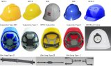 ABS/PE 안락 방어적인 모자 건축을%s 조정가능한 안전 헬멧