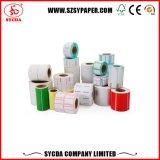 La etiqueta engomada blanca etiqueta los materiales papel auto-adhesivo