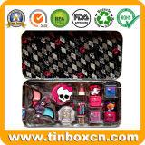 Los niños frutas Lip Balm cajas de lata con asa para regalo