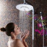Pomme de douche de pluie Étanche mains libres Bluetooth sans fil de l'Orateur
