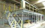 Oficina prefabricada del entresuelo del marco de acero con la viga de acero y la columna