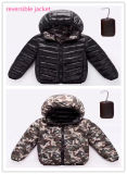 Новый стиль Ready-Made реверсивный детей Зимняя куртка
