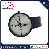 Face blanche de montres avec la montre matérielle de /Alloy d'acier inoxydable de courroie de courroie en cuir de Tan (DC-1389)