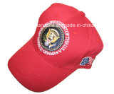 Le produit d'usine a personnalisé la casquette de baseball brodée par logo de sports en plein air de noir de sergé de coton