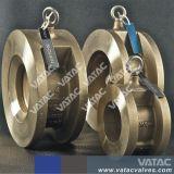 Ferro fundido ou aço inoxidável chapa dupla de aperto da válvula de retenção de wafers