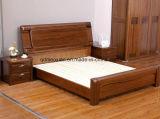 Твердые деревянные кровати современные двуспальные кровати (M-X2349)