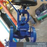 Handrad gebetriebenes HF-Flansch-Roheisen-Kugel-Ventil