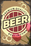 Antique Pub cerveja decoração sinais de estanho metálico