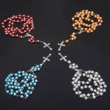 Le coeur acrylique perle le collier de rosaire (IO-cr422)