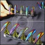 Pigmento holográfico do pó do cromo do espelho do Glitter do laser da arte do prego do Chameleon do pavão de Ocrown