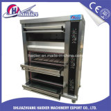 Oven van het Dek van de Oven van de Pizza van het Gas van de Apparatuur van de bakkerij de Elektro 3 Lagen 9 Dienbladen met Stoom