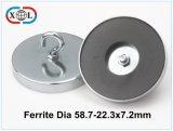 Ring-Ferrit-Kern-Magnet mit Metallcup-Neodym-Magneten