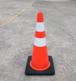 Cono arancione riflettente di sicurezza stradale di colore per sicurezza della carreggiata