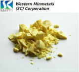 Alta Pureza do enxofre enxofre) 5N 6N em Western Minmetals