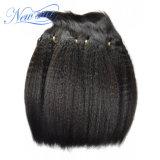 Unprocessed малайзийский Kinky прямой уток связывает выдвижение 100% человеческих волос