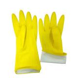 Резиновые перчатки для очистки Желтый латекс домашних хозяйств кухонные рукавицы