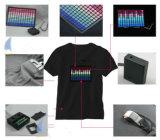 Progettare la maglietta per il cliente infiammante a comando vocale di EL di musica