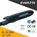 Luz de calle al aire libre de la cubierta de aluminio IP66 LED del poder más elevado con garantía de 5 años