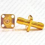 Gloden SMA Jack fêmea ao adaptador do conetor do RF da montagem do PWB da flange dos furos do conetor fêmea 4