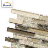 Diseñado lo más tarde posible al por mayor Crackle Backsplash/el azulejo de mosaico de piedra de cristal de la pared