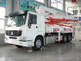 Sinotruk HOWO 상표 42m 구체 펌프 트럭