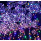 Transparenter LED glühender Ballon der blinkendes Licht-Helium-Partei-Bobo-Partei-Luftblasen-