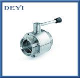 Válvula de esfera higiênica de Aspetic do aço inoxidável