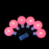 Venta caliente de Navidad Bolas decorativas LED de luz con mando a distancia