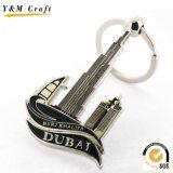 Anello chiave della Doubai Souvernir del metallo su ordinazione della catena chiave