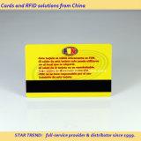 Standardkarte Cr80 0.76mm bildete Plastik mit magnetischem Streifen