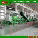 50-150mm Ligne de puces en caoutchouc faisant le recyclage de vieux/supprimer/pneu usagé