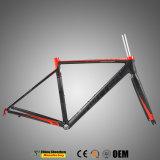 Flacher straßen-Fahrrad-Rahmen des Schweißens-700c Aluminiummit reflektierendem Firmenzeichen