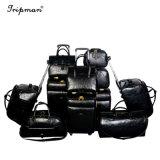 Случайная комбинация модного PU динамического багажа косметический набор багажного отделения подушки безопасности