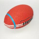 昇進の自然な乳液のゴム製対話型のラグビーのボールピカピカのペットおもちゃ