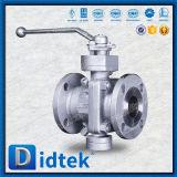 Válvula de esfera de duas partes manual assentada delicado de Didtek