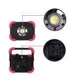 O LED de luz de trabalho, pilhas recarregáveis da Luz de Trabalho