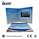 El folleto video popular de 7 pulgadas se utilice para la invitación promocional del regalo/hacer publicidad