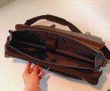 型PUの革キャンバスのメッセンジャー袋のラップトップのブリーフケースのポートフォリオのハンドバッグ