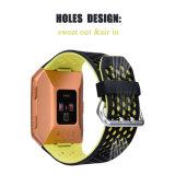 Cor dupla Fitbit Original iónicos cinta de vigilância de silicone com adaptador