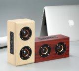 5W*2 alto-falante estéreo portátil de madeira sem fio 4.0 alto-falante de tecnologia