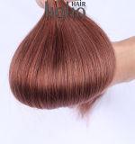 De bruine Uitbreidingen van het Menselijke Haar van het Uiteinde van U van 24 Duim Natuurlijke Zijdeachtige