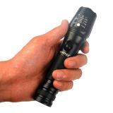 Xm 868-L LED T6 de aluminio de zoom telescópico, linterna recargable
