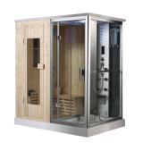 Zaal van de Sauna van de Stoom van de Pijnboom van Finland van het Ontwerp van de fabriek de Elegante Houten Persoonlijke