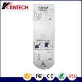 Elevador montado na parede Knzd-17 telefone intercomunicador de elevação de Metro