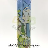 Rick-und Morty Glasaufkleber-Becher-Glaswasser-Rohr mit Qualität für Weed-trockenes Kraut