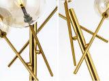 Post-Modern decorativa Lámpara de mesa de escritorio de vidrio en oro para el Dormitorio, Salón