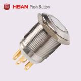 19mm力の記号の超平面の金属のステンレス鋼の押しボタンスイッチ