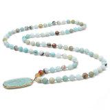 De parel Geparelde Halsband van de Tegenhanger van de Bundel van het Kristal van de Juwelen van Halsbanden 1PCS Boheemse met Roze Natuurlijke Zoetwater van de Leeswijzer