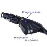 Supporto doppio del supporto della culla del caricatore dell'automobile del USB per l'accessorio del telefono mobile