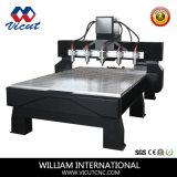 Routeur CNC 4 axes gravure sur bois de la machine rotative